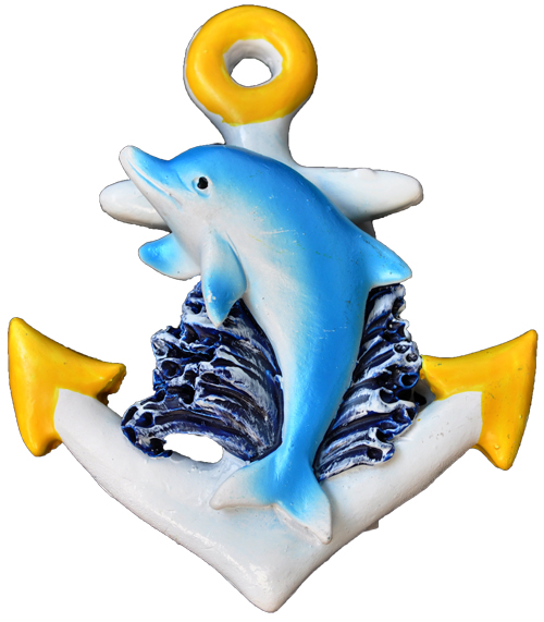 MAGNET POLY YELLOW ANCHOR/DOLPHIN  each (ea) * 240 *CASE OF 240