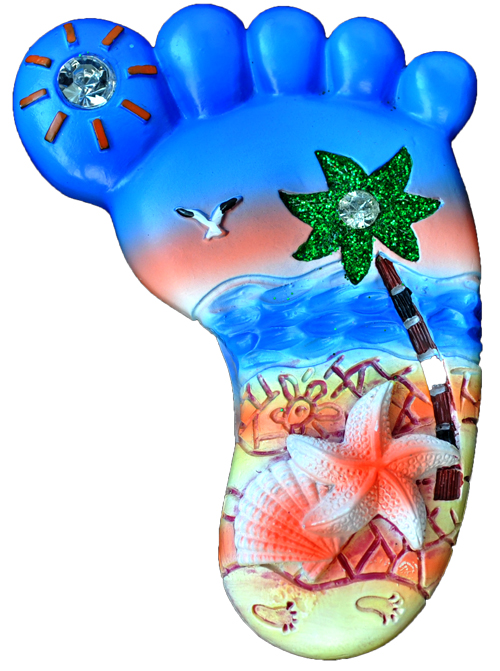 MAGNET POLY FOOT SHAPE STARFISH  each (ea) * 240 *CASE OF 240
