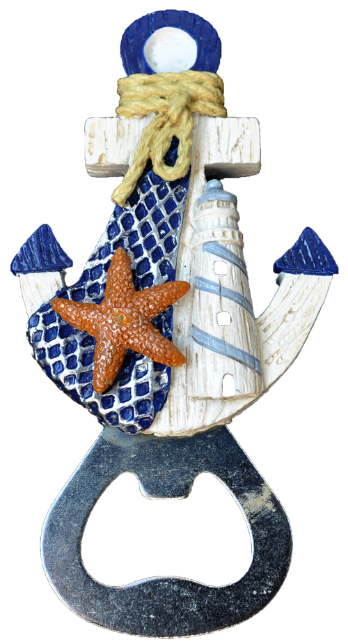 MAGNET POLY NAUTICAL ANCHOR B/O D/BLUE  each (ea) * 240 *CASE OF 240