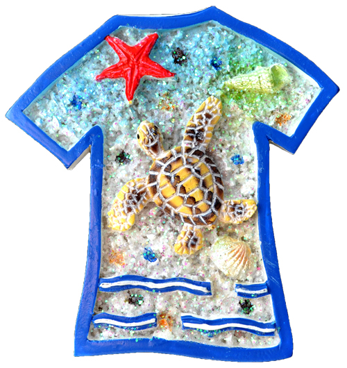 MAGNET POLY BEACH T-SHIRT 3/S  each (ea) * 240 *CASE OF 240