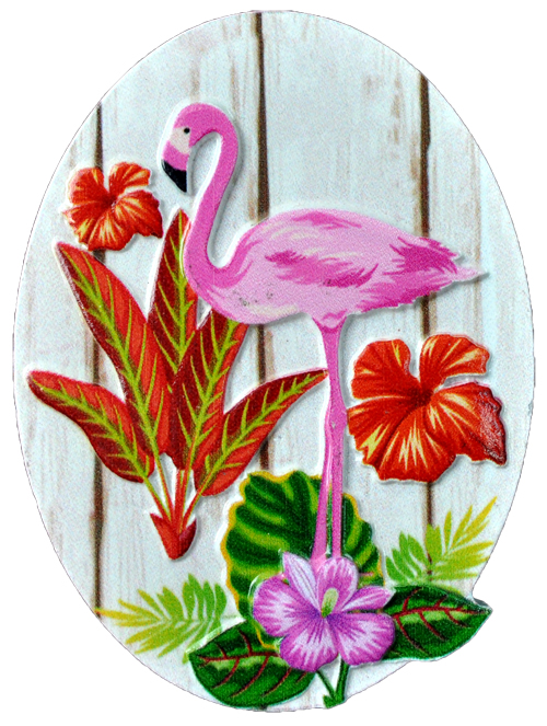 MAGNET POLY DECAL FLAMINGO OVAL  each (ea) * 240 *CASE OF 240