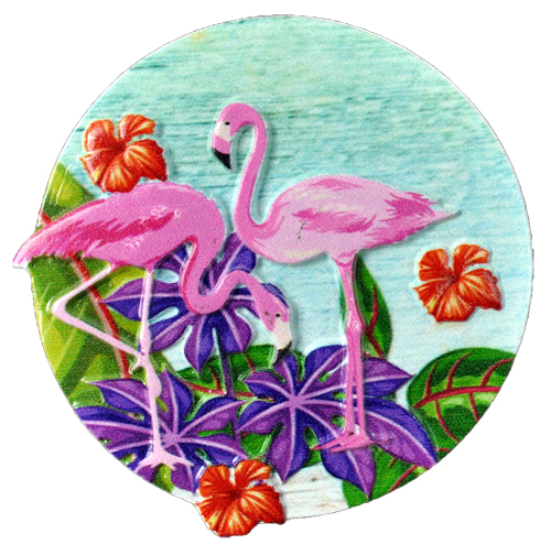 MAGNET POLY DECAL 2 FLAMINGOS LAKE  each (ea) * 240 *CASE OF 240