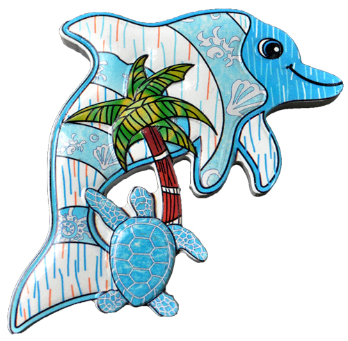 MAGNET POLY DECAL DOLPHIN/PT-TURTLE  each (ea) * 240 *CASE OF 240