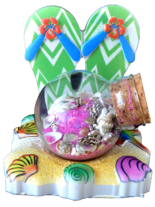 SAND BALL POLY DECAL SANDALS  each (ea) * 72 *CASE OF 72