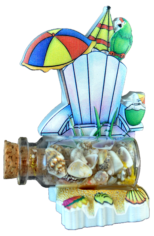 SAND BALL POLY DECAL BEACH SCENE  each (ea) * 144 *CASE OF 144
