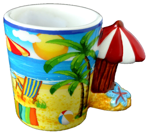 ESPRESSO MUG RED UMBRELLA HANDLE  each (ea) * 144 *CASE OF 144