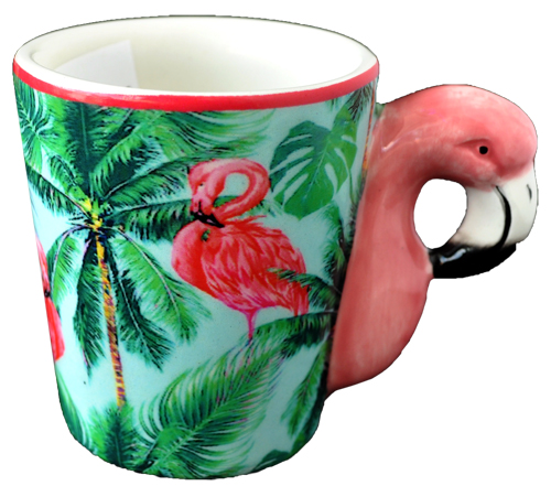 ESPRESSO MUG LEAFY/FLAMINGO HANDLE  each (ea) * 144 *CASE OF 144