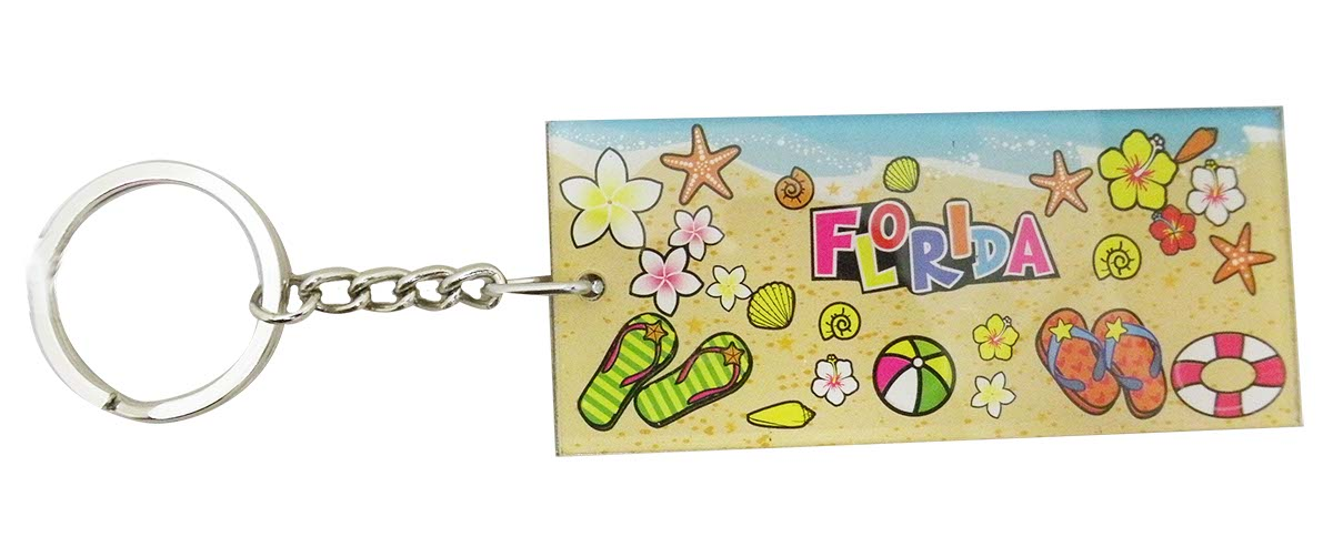 KEY CHAIN KC LUC-BEACH/SANDAL/FLWR FLA * UOM: PC * Minimum Order:12
