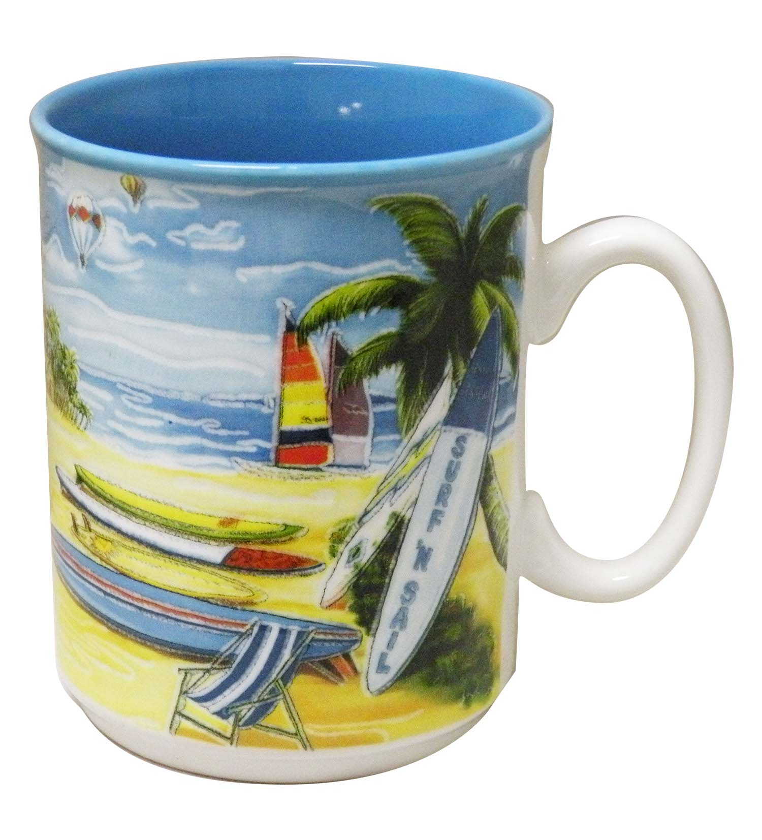 MUG CERAMIC/BLUE-SURFB/SLBT * UOM: PC * Minimum Order:4