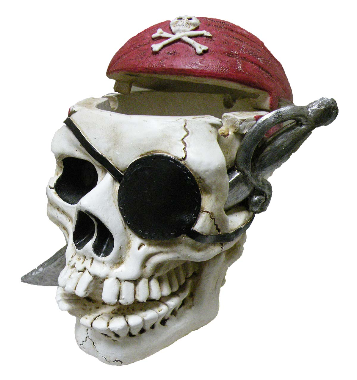 ASH TRAY POLY PIRATE SKULL  * UOM: PC * Minimum Order: 4