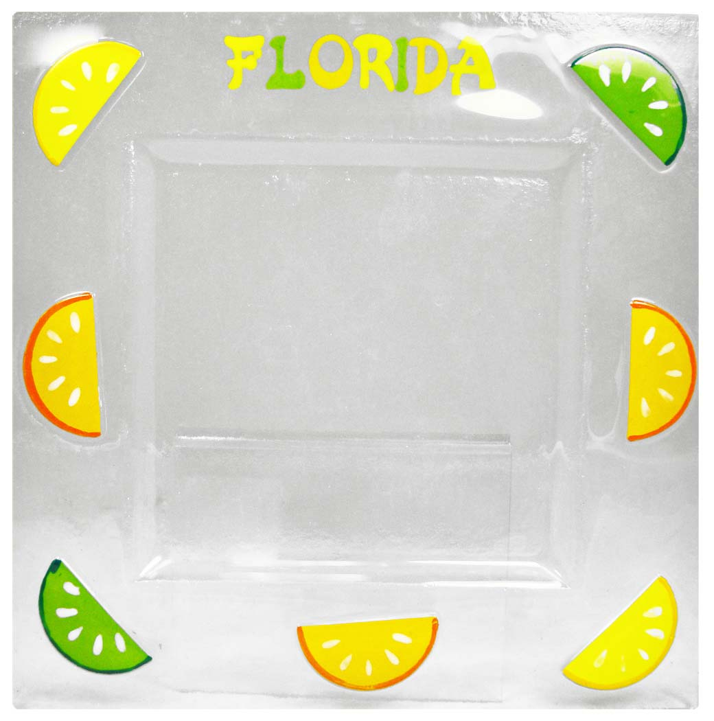 C/O-GLASS PLATE_ORANGES-LRG * UOM: each (ea) * Minimum Order: 4 * CASE OF 60