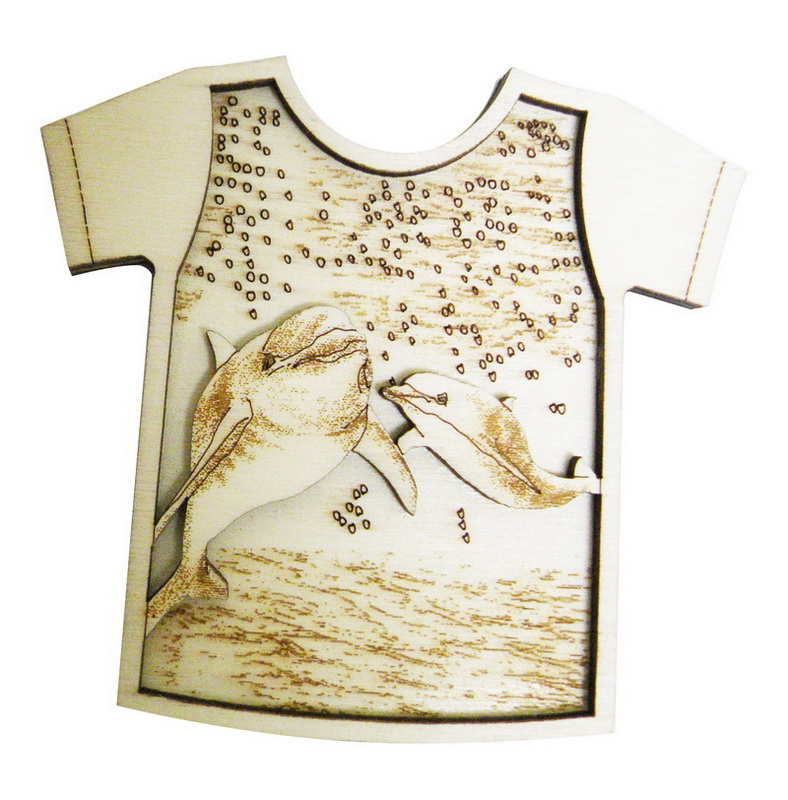 MAGNET WOOD SHIRT SH-DOLPHIN * UOM: each (ea)* Minimum Order: 24
