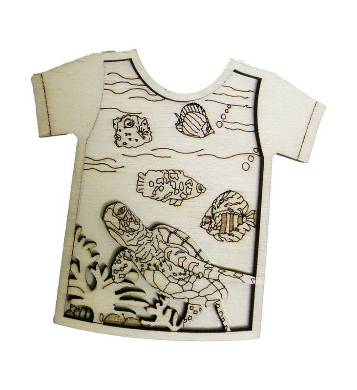 MAGNET WOOD SHIRT SH-TURTLES * UOM: each (ea)* Minimum Order: 24