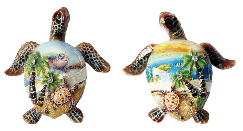 FIGURE POLY TURTLE OCEAN 2/S * UOM: each (ea) * Minimum Order:4