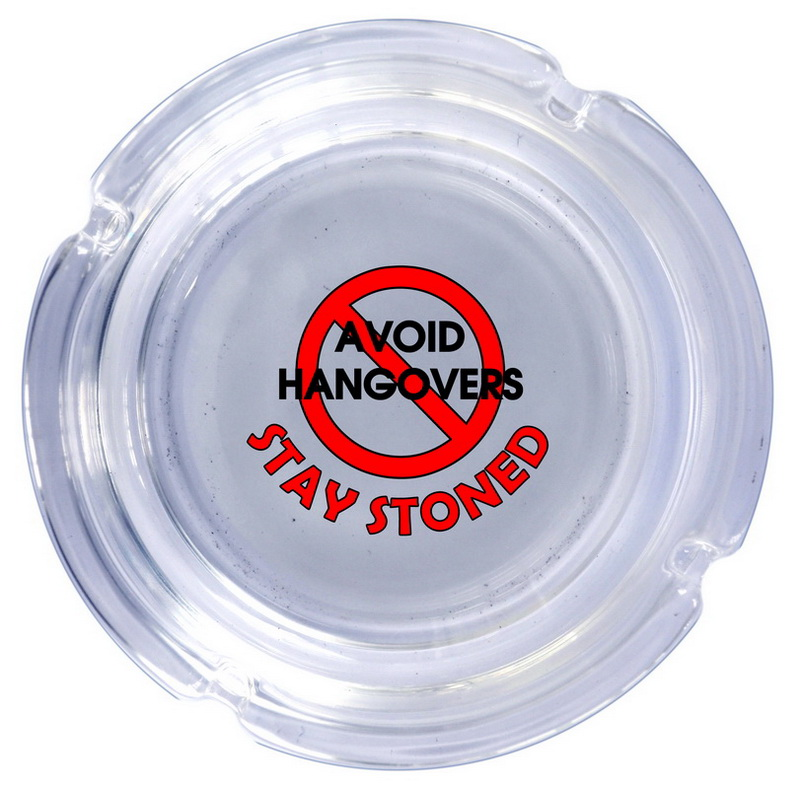 A/T AVOID HANGOVER  ASH TRAY GLASS * UOM: each (ea)* Minimum Order: 12