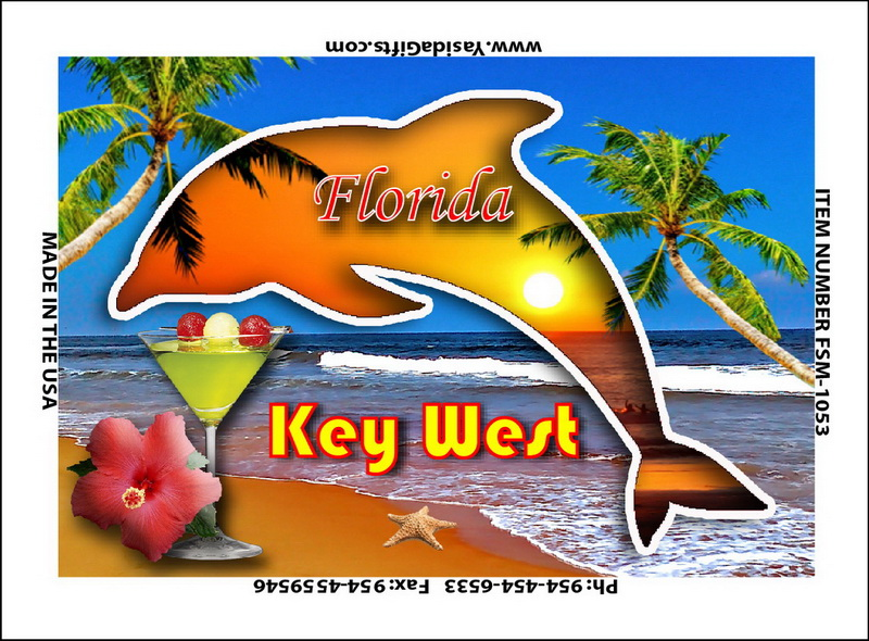 DOLPHIN CUTOUT ON BEACH MAGNET 12PC * UOM: dozen (dz)* Minimum Order: 1