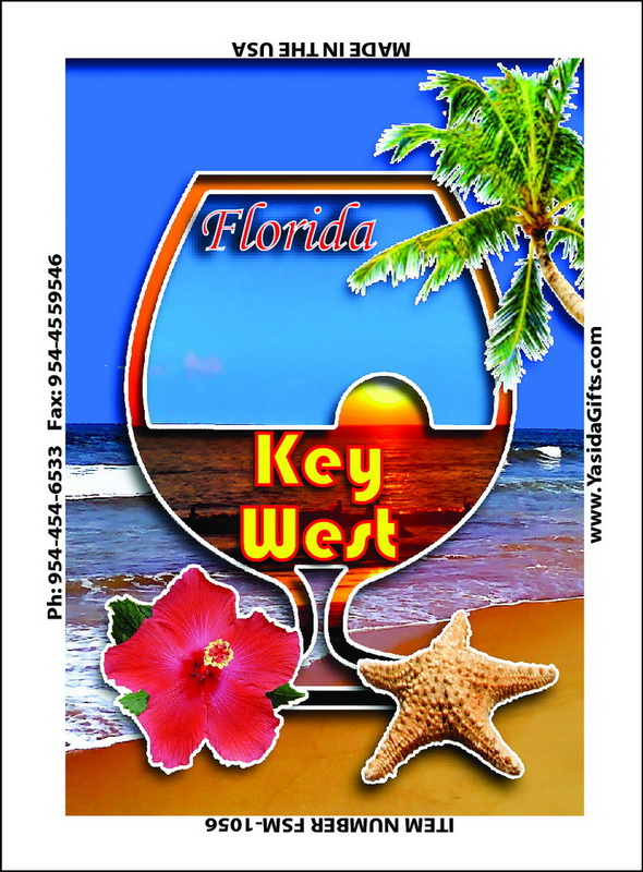 DRINK CUTOUT ON BEACH FLAT MAGNET 12PC * UOM: dozen (dz)* Minimum Order: 1