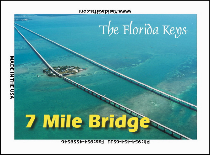 7 MILE BRIDGE FLAT MAGNET 12PC * UOM: dozen (dz)* Minimum Order: 1