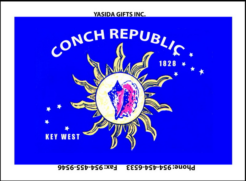 CONCH REPUBLIC FLAT MAGNET 12PC * UOM: dozen (dz)* Minimum Order: 1