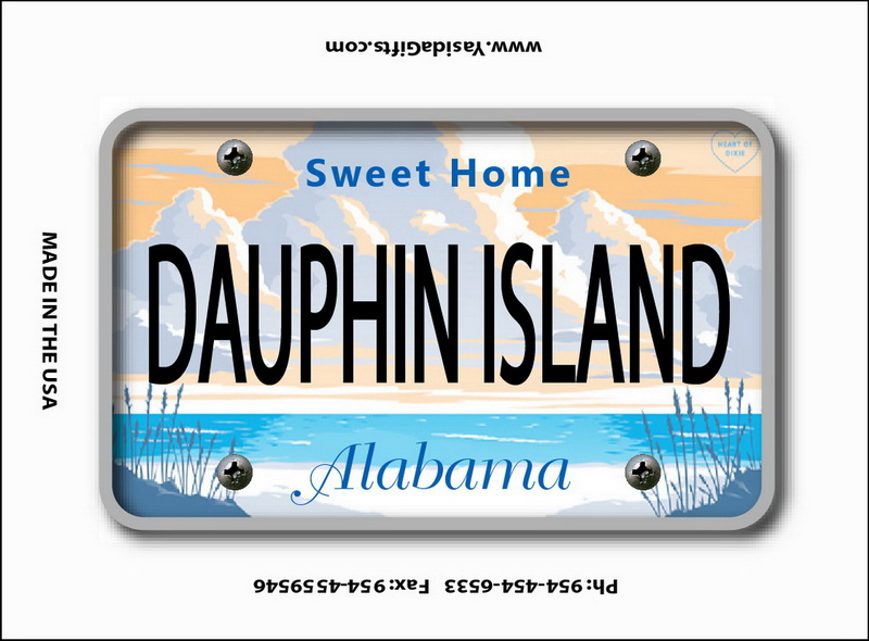 ALABAMA LICENSE PLATE  FLAT MAGNET 12PC * UOM: dozen (dz)* Minimum Order: 1