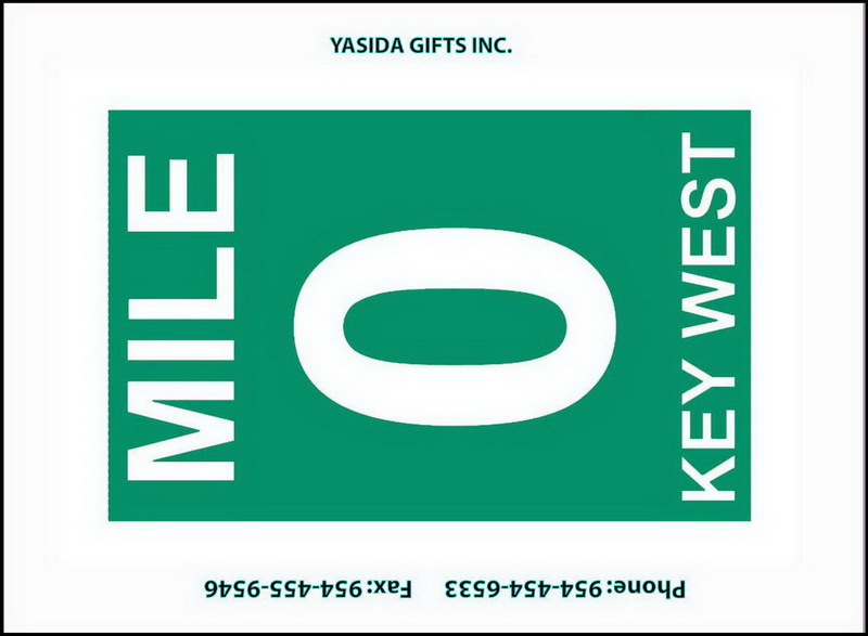 MILE 0 SIGN FLAT MAGNET 12PC * UOM: dozen (dz)* Minimum Order: 1