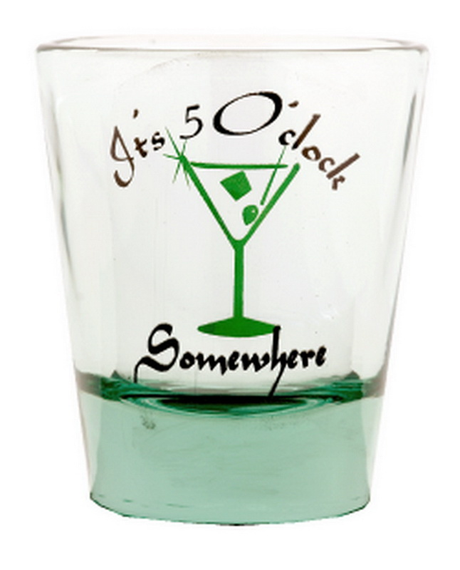 IT'S 5 O'CLOCK SOMEWHERE SHOT GLASS 12PC * UOM: * Minimum Order: