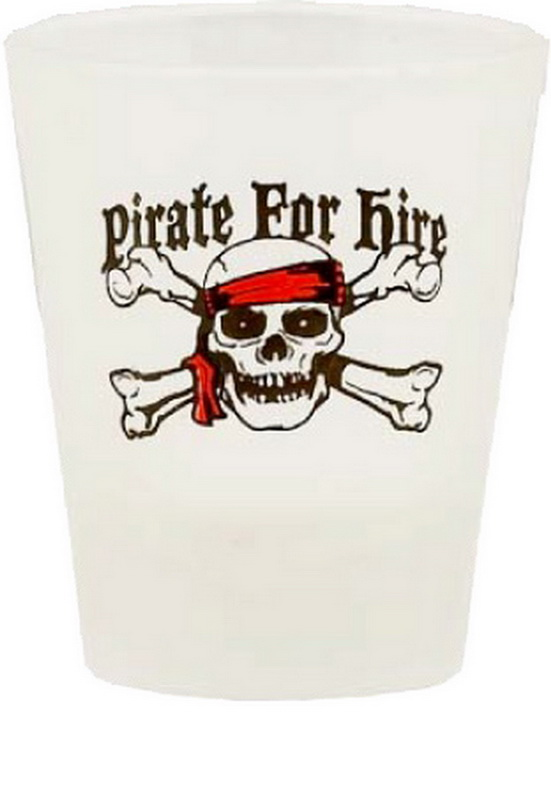 PIRATE FOR HIRE SHOT GLASS 12PC * UOM: * Minimum Order: