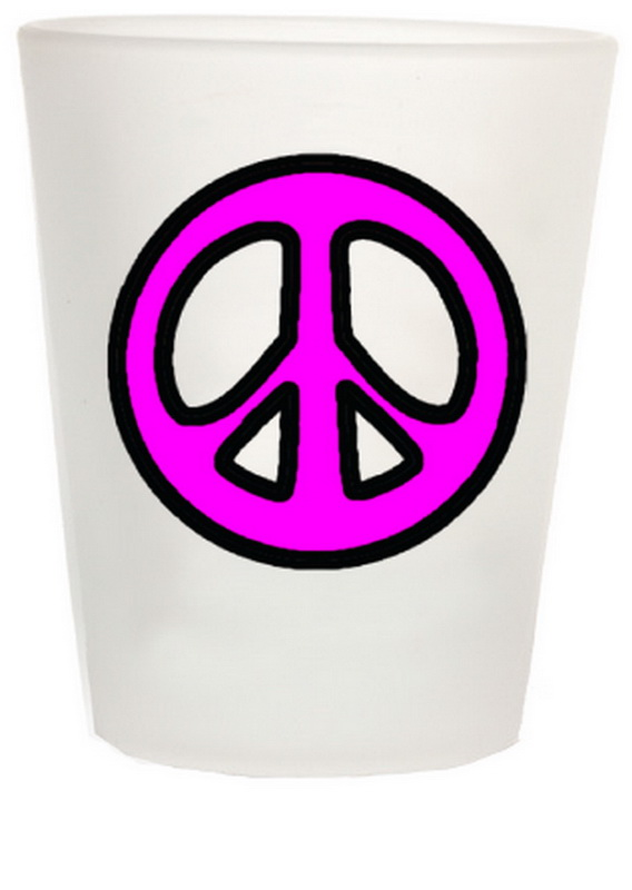 PEACE SIGN SHOT GLASS 12PC * UOM: * Minimum Order: 1