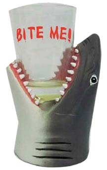 SHOT GLASS-POLY SHARK HEAD SHOT-PL * UOM: PC * Minimum Order:6
