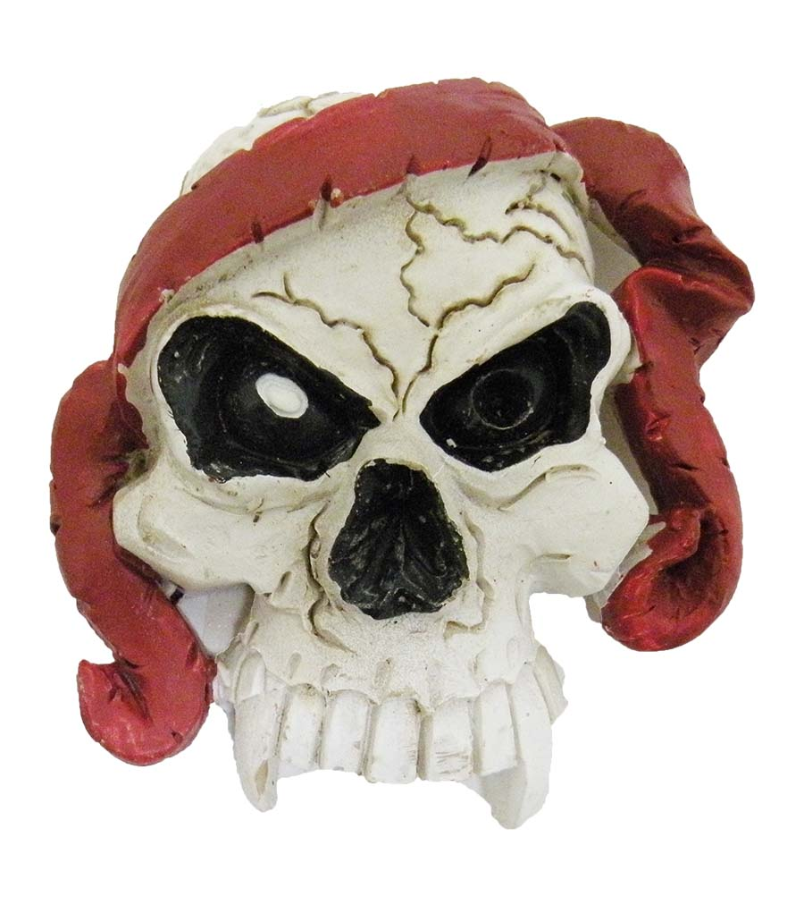 MAGNET POLY SKULL/RED HAIR * UOM: PC * Minimum Order:4