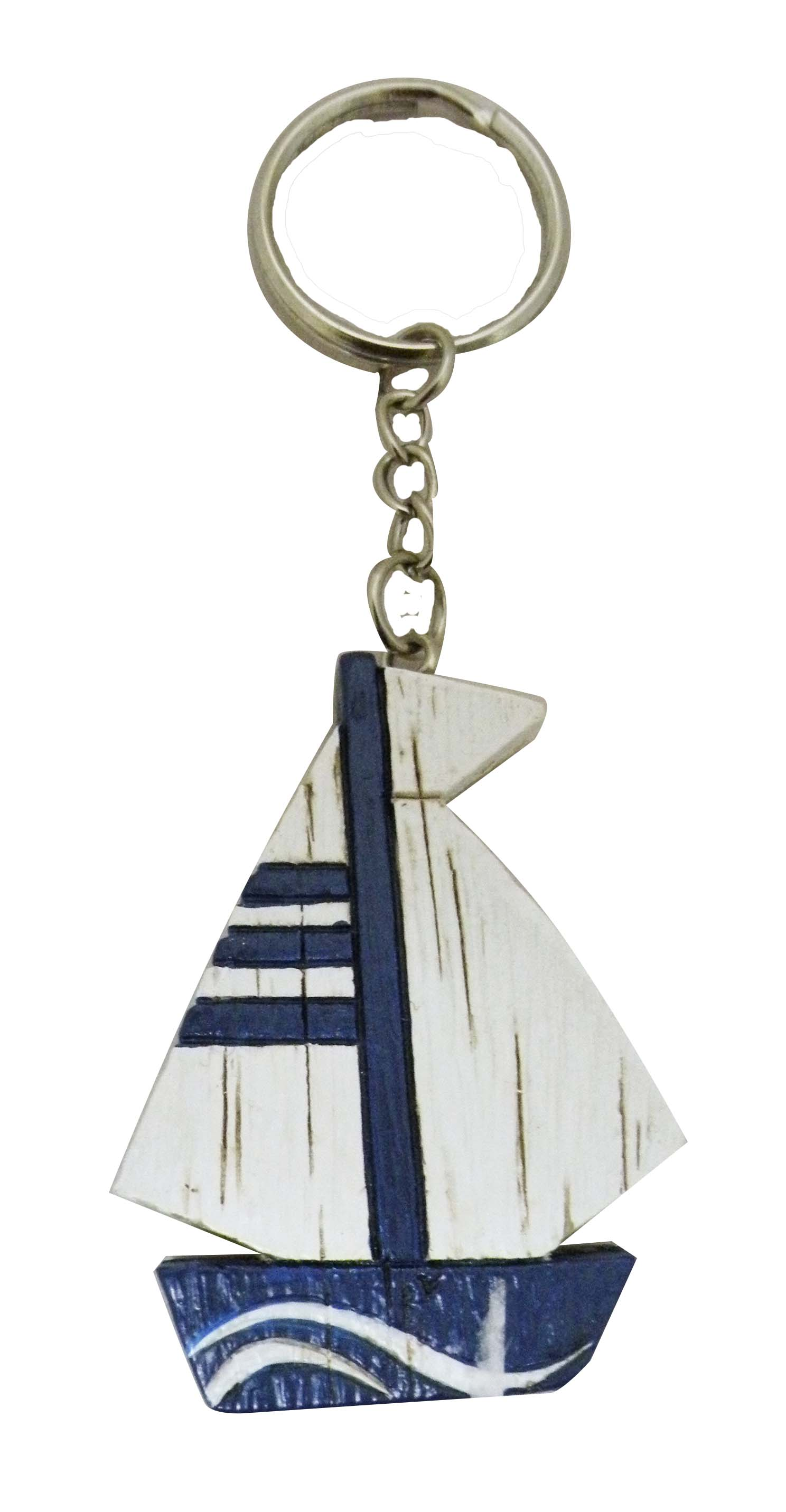 KEY CHAIN POLY SAILBOAT 4/S * UOM: PC * Minimum Order:12