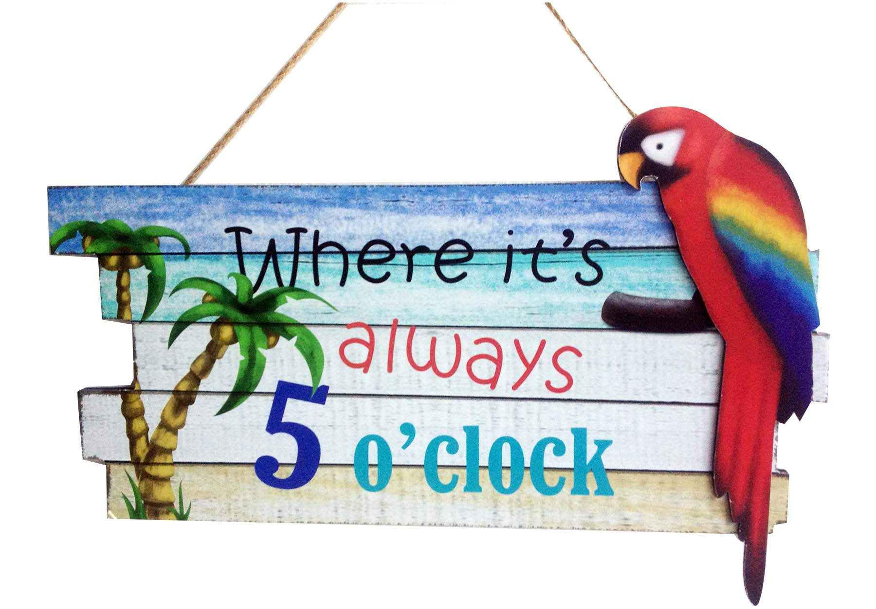 PLAC-WOOD/ALWAYS 5'CLOCK * UOM: pc * Minimum Order:6