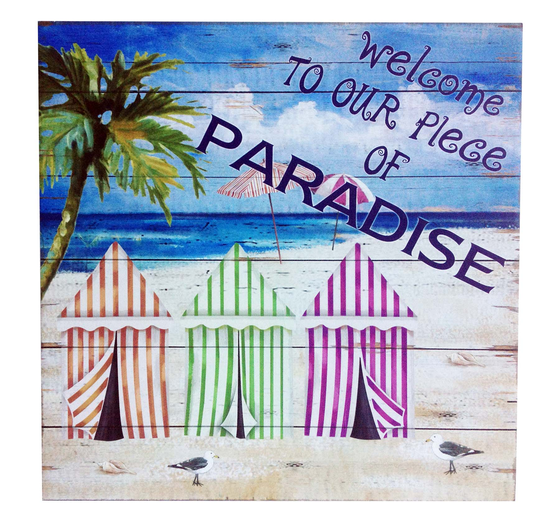 PLAC-WOOD/WELCOME PARADISE * UOM: pc * Minimum Order:10