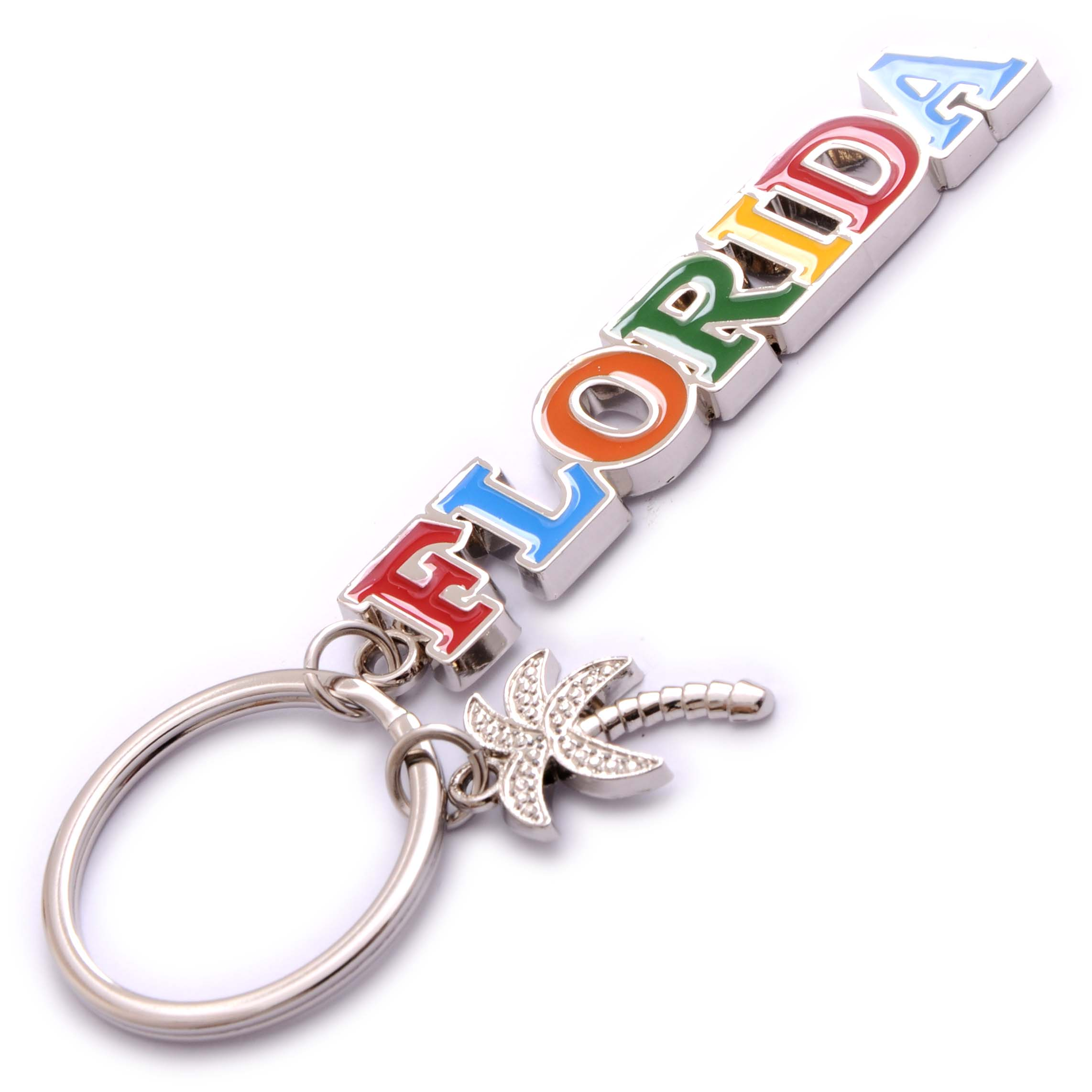 KEY CHAIN METAL-FLA LTR/PT ICON * UOM: PC * Minimum Order:24