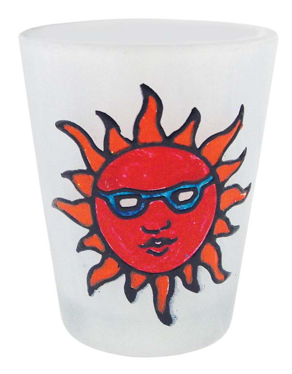 C/O SHOT GLASS FROSTED GLITTER SUN- * UOM: PC * Minimum Order:12