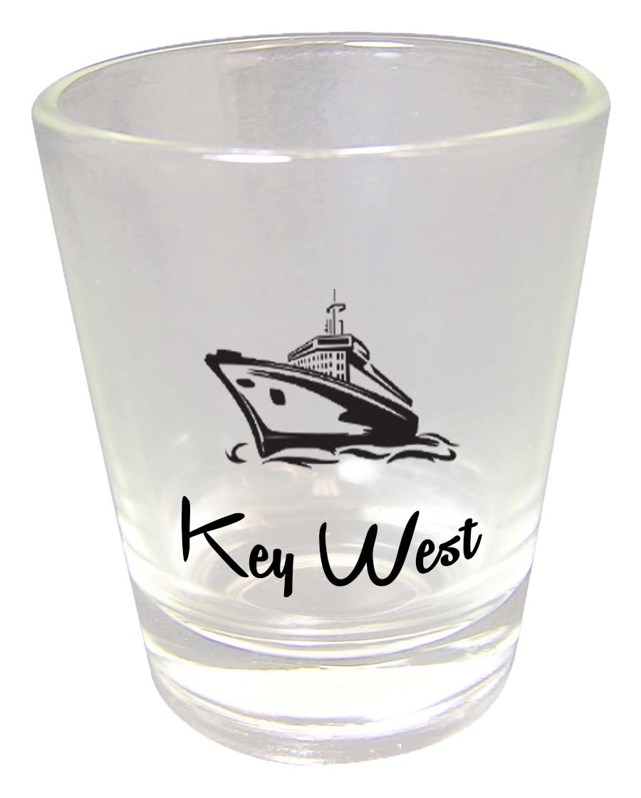 Shot Glass CLEAR CRUISE SHIP - UOM: PC - Minimum Order:48