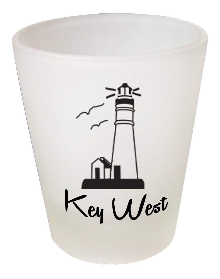 Shot Glass FROSTED LIGHTHOUSE - UOM: PC - Minimum Order:48