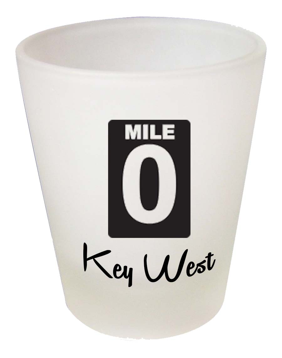Shot Glass FROSTED MILE ZERO - UOM: PC - Minimum Order:48
