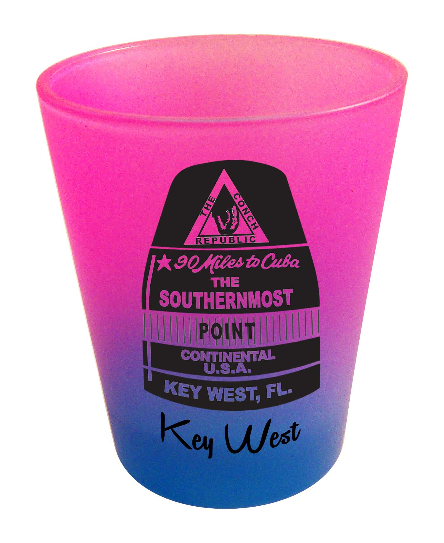 Shot Glass-RNBW CLRS BUOY SOUTHERN - UOM: DZ - Minimum Order:48
