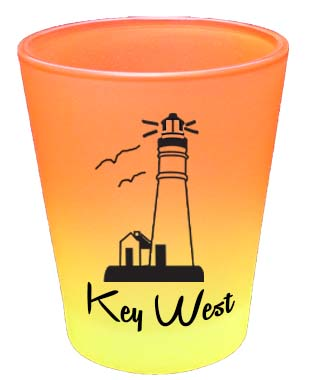 Shot Glass-RNBW CLRS LIGHTHOUSE - UOM: DZ - Minimum Order:48
