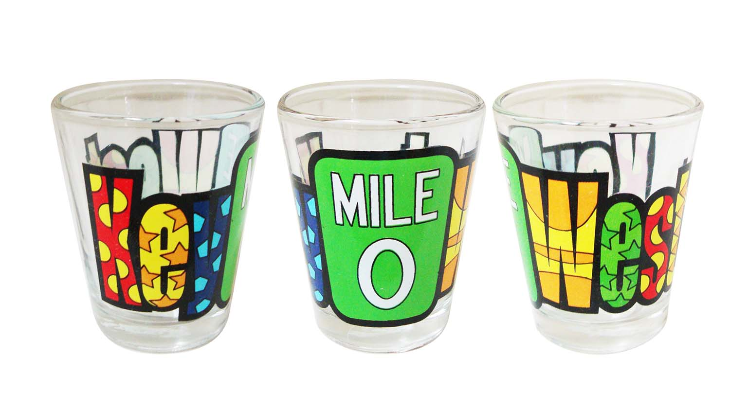 Shot Glass-KEY WEST MILE ZERO - UOM: DZ - Minimum Order:1