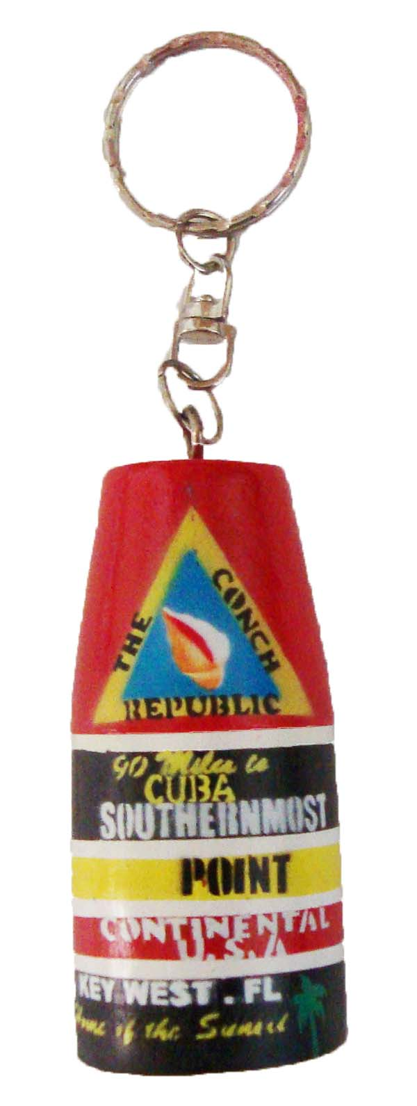 Key Chain WOOD-BUOY SOUTHERMOST - UOM: PC - Minimum Order:12