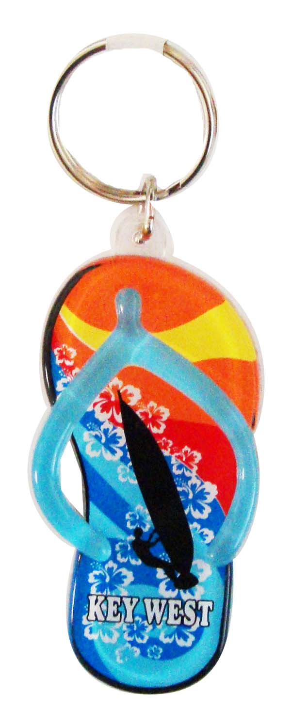 Key Chain-ACRYL BL.SNDL W/SURFER - UOM: DZ - Minimum Order:6