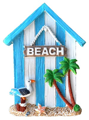 MAGNET POLY NAUTICAL BEACH HOUSE L/BLUE  each (ea) * 240 *CASE OF 240