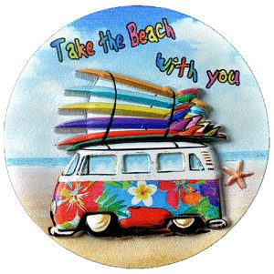MAGNET POLY DECAL ROUND VAN  each (ea) * 240 *CASE OF 240