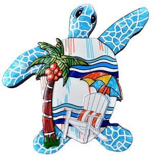 MAGNET POLY DECAL TURTLE/BEACH SCENE  each (ea) * 240 *CASE OF 240