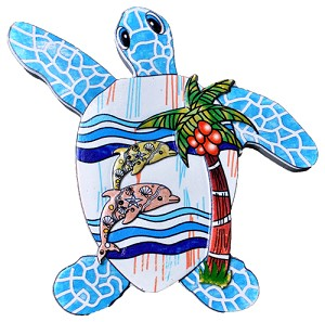 MAGNET POLY DECAL TURTLE/DOLPHIN SCENE  each (ea) * 240 *CASE OF 240