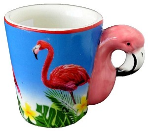 ESPRESSO MUG FLAMINGO HANDLE  each (ea) * 144 *CASE OF 144