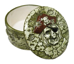 BOX CERAMIC ROUND PIRATE * UOM: PC * Minimum Order:4