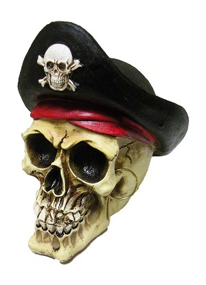 BANK POLY PIRATE SKULL/HA * UOM: PC * Minimum Order: 4